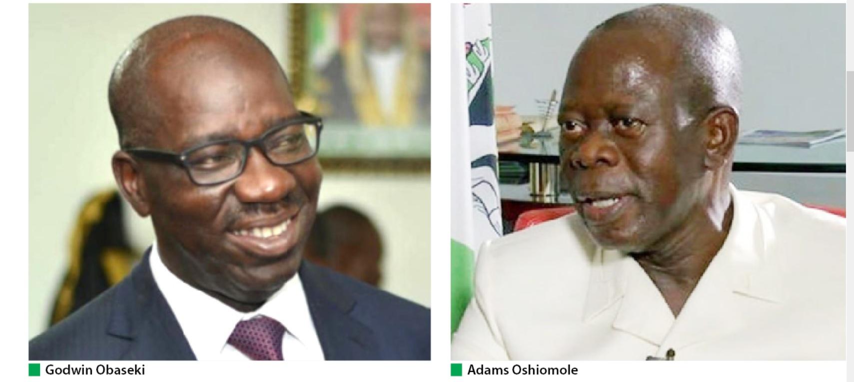 Adams Oshiomhole vs Obaseki
